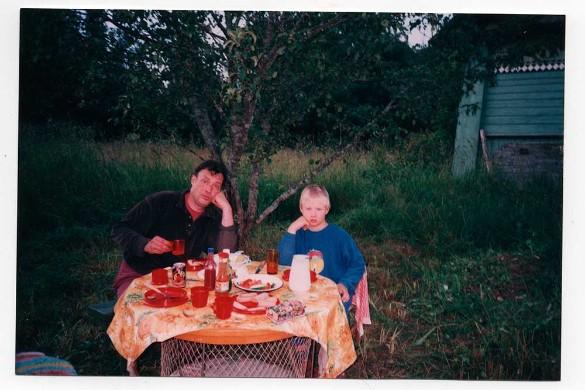 Илья Борецкий с отцом. Фото: личный архив