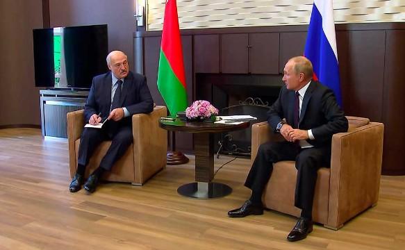 Владимир Путин и Александр Лукашенко. Фото:Kremlin Pool/via Globallookpress.com/www.globallookpress.com
