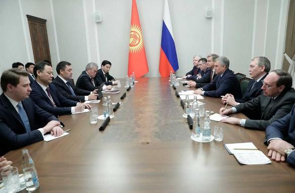 Вячеслав Володин и Садыр Жапаров. Фото: duma.gov.ru