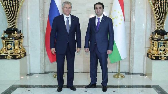 Володин обсудил с Рахмоном развитие отношений России и Таджикистана