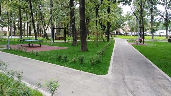 Завершилось благоустройство парка за комбинатом бытового обслуживания во Внукове