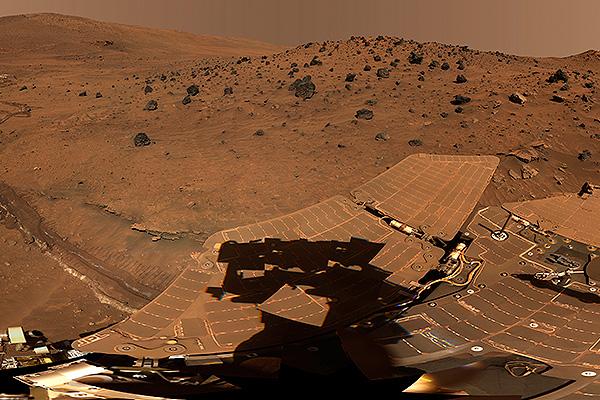 Египетское изваяние на Марсе
