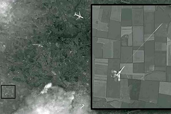 Атаку на Boeing под Донецком снял спутник