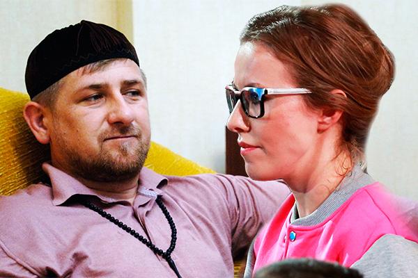 Image result for Кадыров и Собчак фото