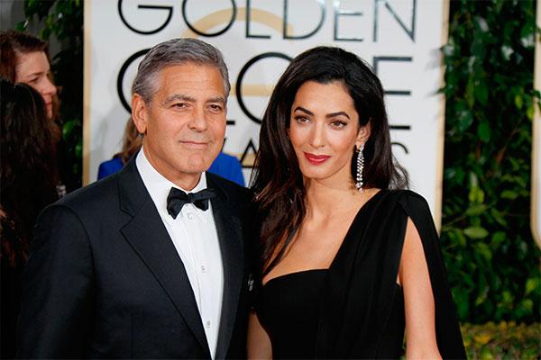 Джордж Клуни с женой Амаль. Фото: GlobalLookpress