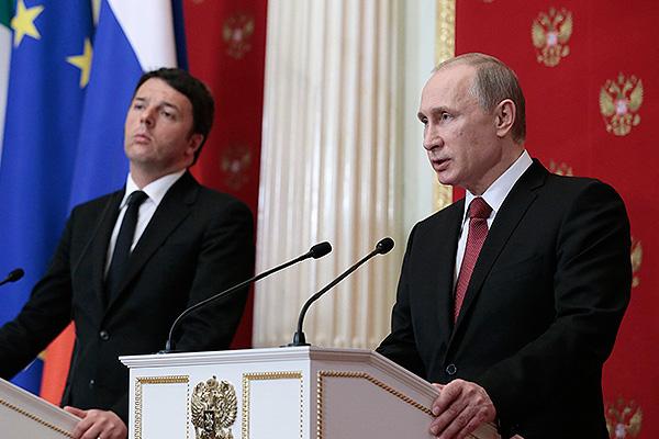 Путин и Ренци обсудили Украину