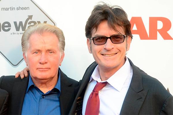 Мартин и Чарли Шин. Фото: GLOBAL LOOK press/Birdie Thompson