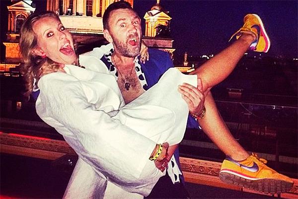 Ксения Собчак и Сергей Шнуров. Фото: instagram.com/shnurovs