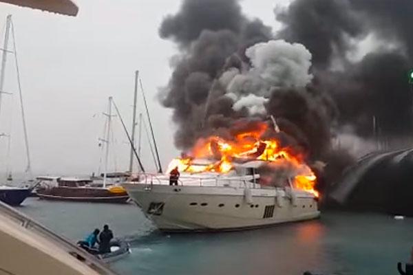 В Турции сгорела яхта украинцев