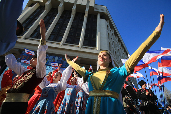 Крым отметил вторую годовщину в России