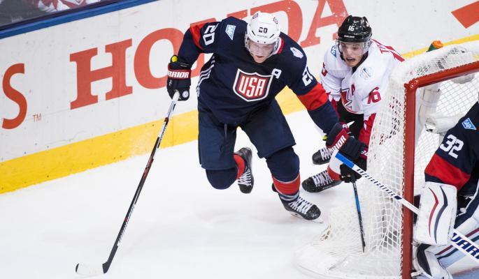 Хоккеисты США и Канады подрались на Кубке мира (видео)