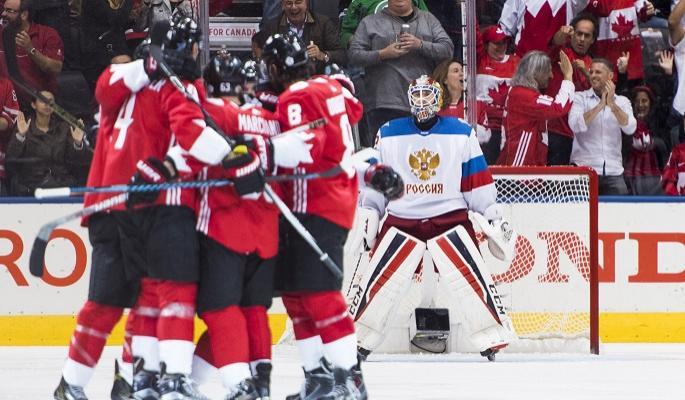 Сборная Канады забросила россиянам пять шайб