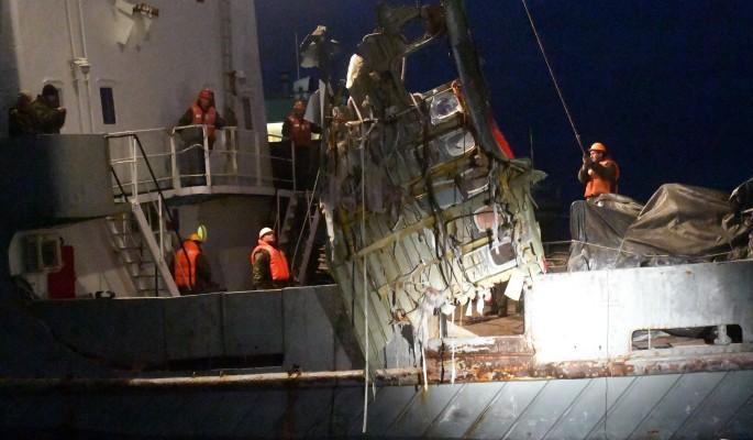 Крушение Ту-154 показали покадрово