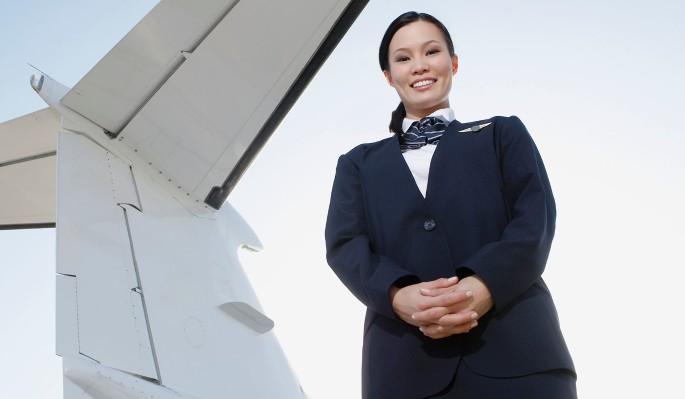 Возбужденный стюардесса