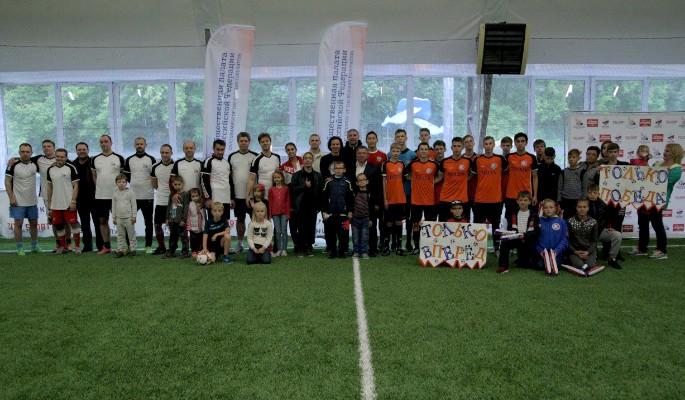 Чемпионы мира сыграли в футбол с Общественной палатой