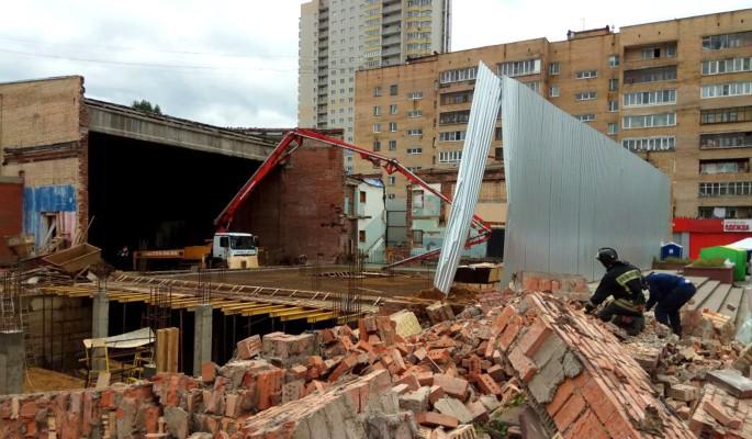 Обрушение кинотеатра в Балашихе попало на видео