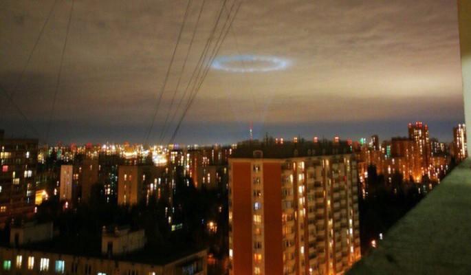 В небе над Химками заметили НЛО