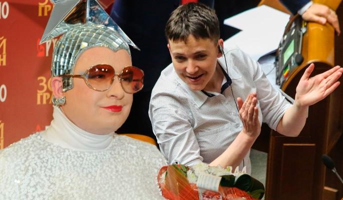 Савченко устроила дикие танцы под Верку Серючку
