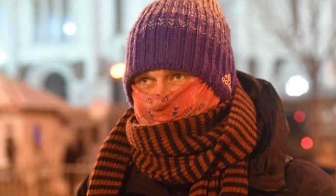 Москвичи пережили самую морозную ночь осени