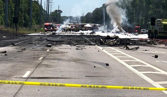 Крушение самолета с пассажирами попало на видео