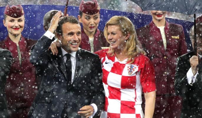 Макрон бросил престарелую жену ради сексуального президента Хорватии