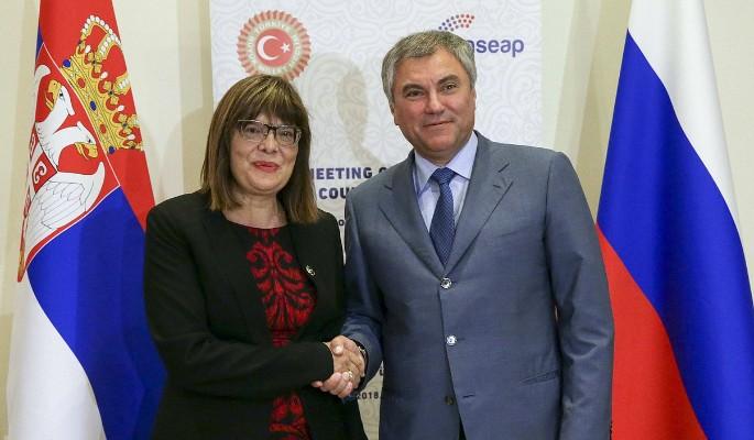 Сербия осудила санкции против российских депутатов