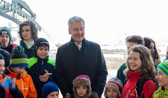 Собянин открыл первую канатную дорогу в Москве
