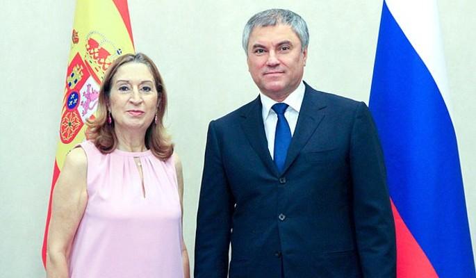 Володин пригласил испанских парламентариев в Москву