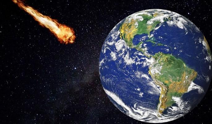 Падение метеорита над Россией сняли на видео