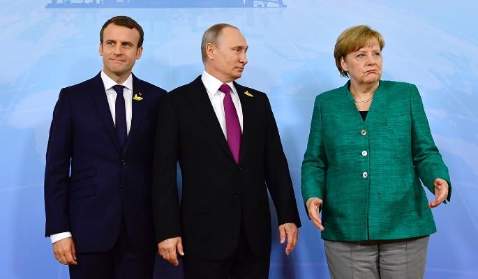 Бойкот и молчание: Путин вбил клин между Меркель и Макроном