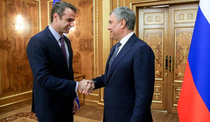 Володин призвал укреплять межпарламентские связи России и Греции