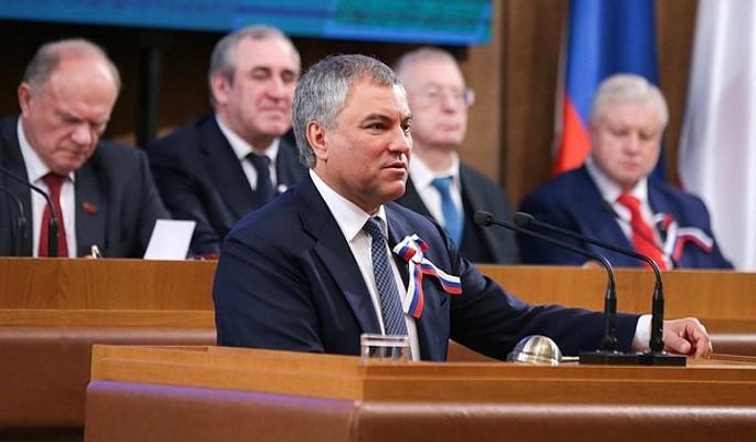 Володин выставил Украине счет за Крым