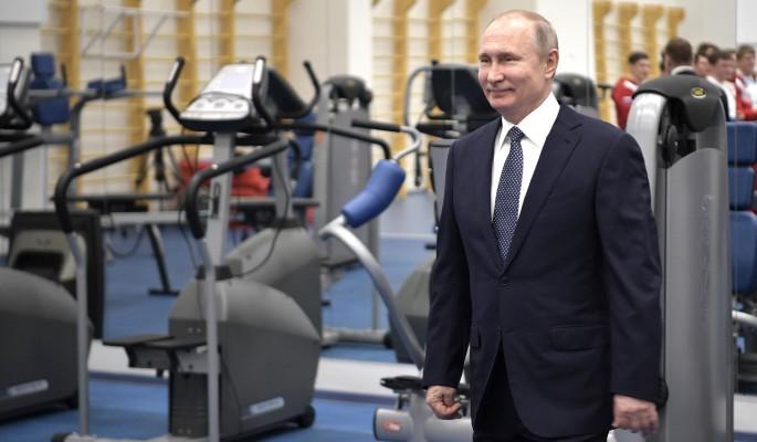 Казус на встрече Путина со спортсменами (видео)