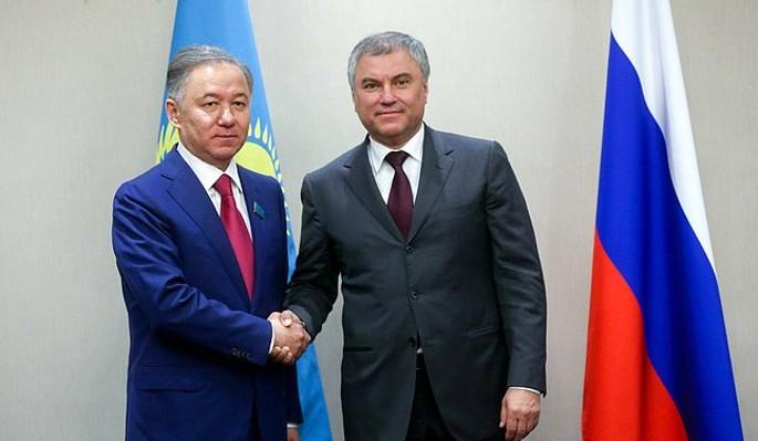 Россия и Казахстан укрепляют межпарламентское сотрудничество