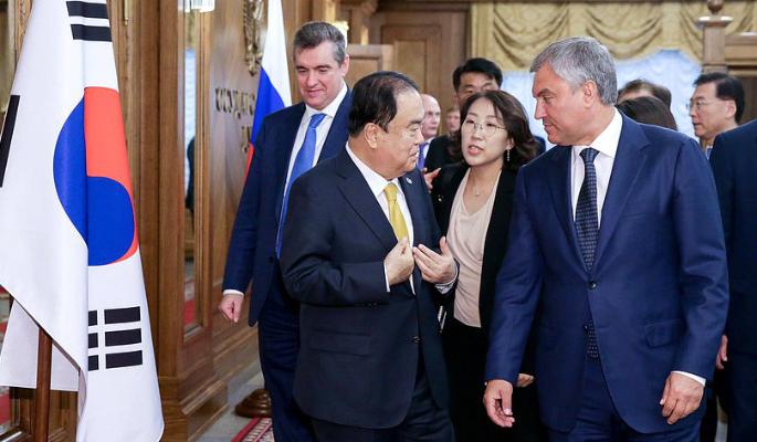 Россия и Южная Корея укрепляют межпарламентское сотрудничество