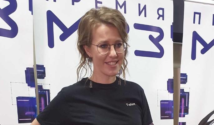 """""""Порванную"""" Собчак сняли после аварии на МКАД"""