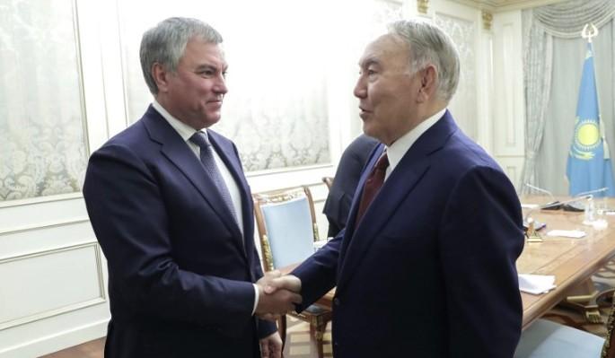 Володин встретился с первым президентом и главой Сената Казахстана