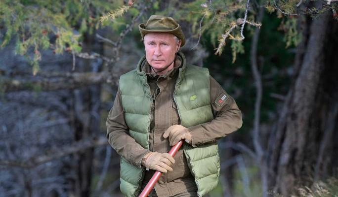 Путин прогулялся по тайге накануне дня рождения