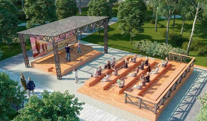 В сквере Победы на Шипиловской построят зеленый театр