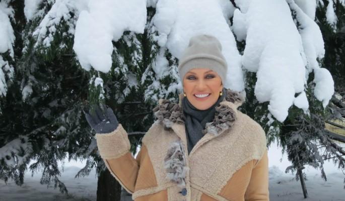 Таисия Повалий проводит новогодние праздники дома
