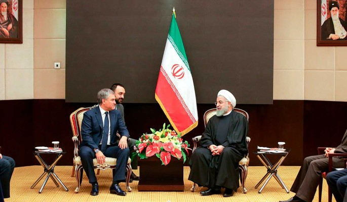 Володин передал президенту Ирана приветствие от Путина