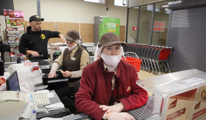 Магазины отказались от наличных из-за пандемии коронавируса