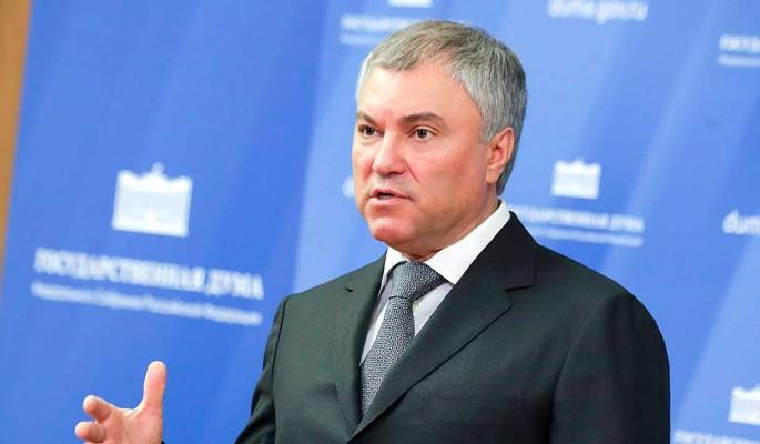 Володин поручил депутатам взять на контроль оказание помощи гражданам и бизнесу