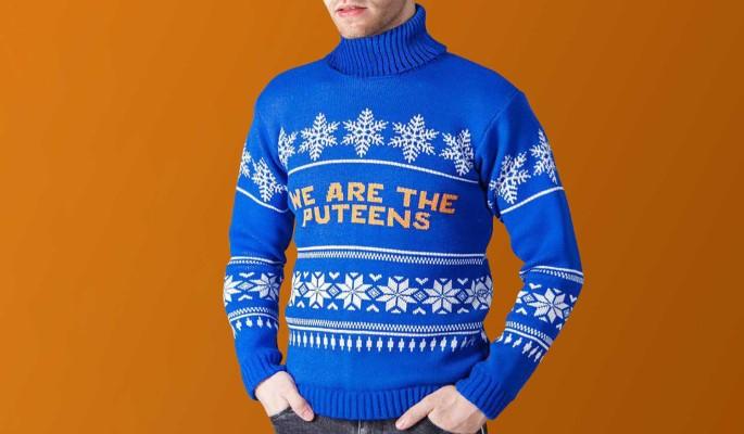 Москвичка выпустила коллекцию свитеров ко дню рождения Путина