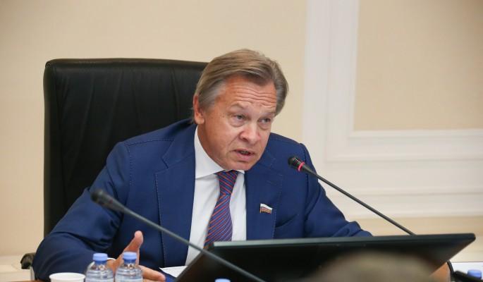 """Пушков: Партию """"Слуга народа"""" надо срочно переименовать в партию """"Слуги Байдена"""""""