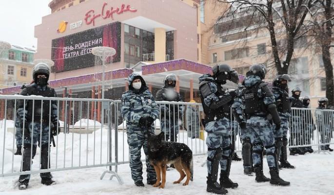 В незаконной акции в Москве участвовали 2 тыс. человек