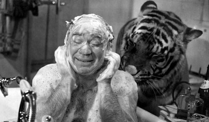 """Перепуганный Леонов нагишом бежал от тигра на съемках фильма """"Полосатый рейс"""""""