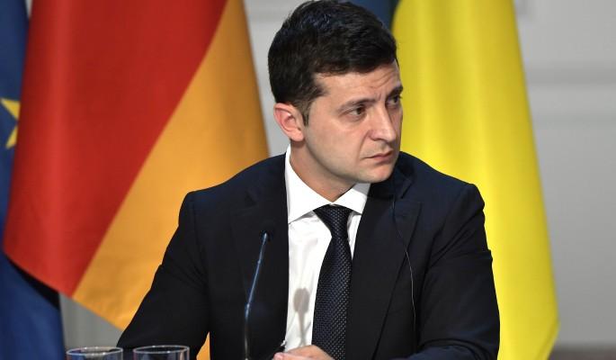 Зеленский провел переговоры с Макроном и Меркель о ситуации в Донбассе