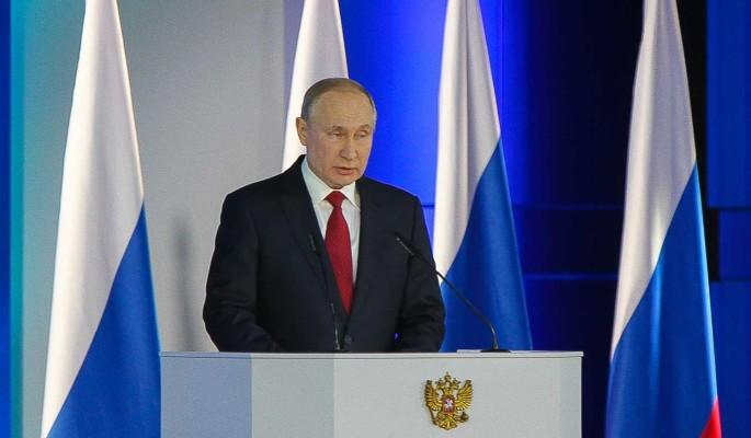 Послание Путина 21 апреля будут транслировать на медиафасадах