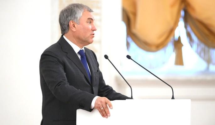 Володин рассказал о принятых в поддержку семей законах
